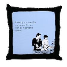 Meeting You Throw Pillow