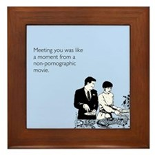 Meeting You Framed Tile