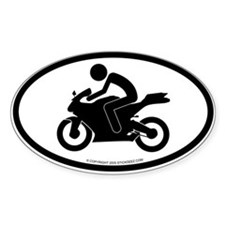 """Sport bike"" - Oval Decal"