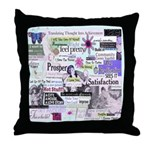 Survivor To Thriver Throw Pillow