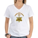 Graham County Sheriff Women's V-Neck T-Shirt