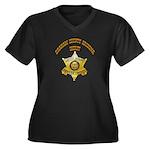 Graham County Sheriff Women's Plus Size V-Neck Dar