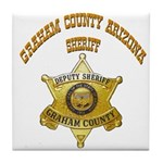 Graham County Sheriff Tile Coaster