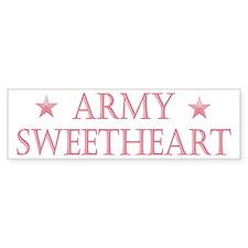 Army Sweetheart - Stars Bumper Bumper Sticker