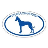 """Pharaoh Hound"" - Oval Decal"