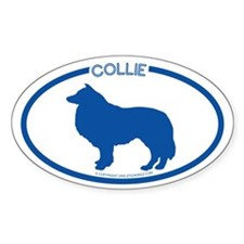 """Collie"" - Oval Decal"