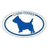 """Cairn Terrier"" - Oval Decal"