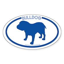 """Bulldog"" - Oval Decal"