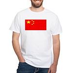 China Chinese Blank Flag White T-Shirt