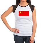 China Chinese Blank Flag Women's Cap Sleeve T-Shir