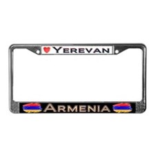 Yerevan, ARMENIA - License Plate Frame
