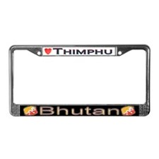 Thimphu, BHUTAN - License Plate Frame