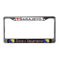 Sarajevo, BOSNIA /HERZEGOVINA -License Plate Frame