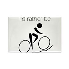 I'd Rather be Cycling Rectangle Magnet (10 pack)