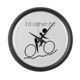I'd Rather be Cycling Large Wall Clock