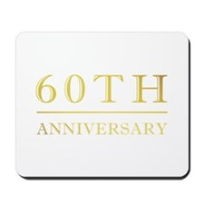 60th Anniversary Gold Shadowed Mousepad