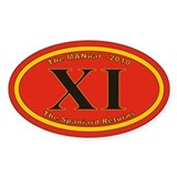 XI Euro Oval Decal