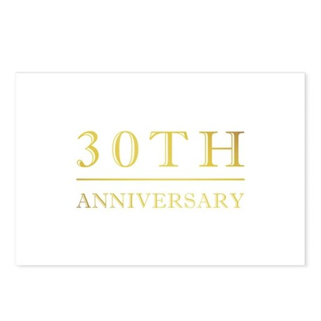30th Anniversary Gold Shadowed Postcards (Package