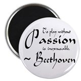 Beethoven Music Passion Quote Magnet