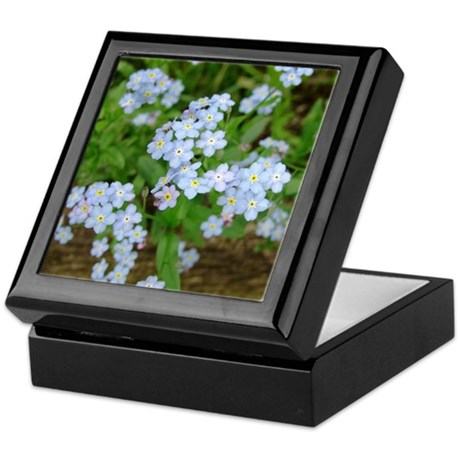 Forget Me Not Flower Blossoms Keepsake Box