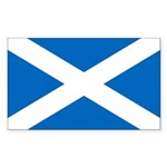 Scottish Flag Sticker (Rectangle 10 pk)