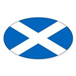 Scottish Flag Sticker (Oval)