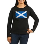 Scottish Flag Women's Long Sleeve Dark T-Shirt