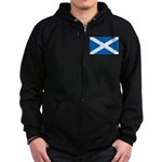 Scottish Flag Zip Hoodie (dark)