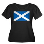 Scottish Flag Women's Plus Size Scoop Neck Dark T-
