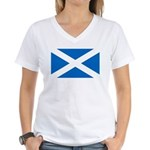 Scottish Flag Women's V-Neck T-Shirt