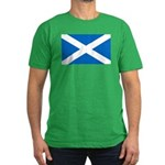 Scottish Flag Men's Fitted T-Shirt (dark)