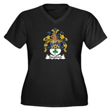 Siegfried Women's Plus Size V-Neck Dark T-Shirt