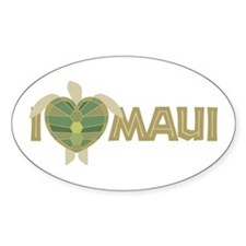 I Love Maui Decal