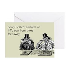 Three Feet Away Greeting Card
