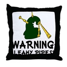 Bagpiper Leaky Pipes Throw Pillow
