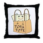Funny Tofu Tote Throw Pillow