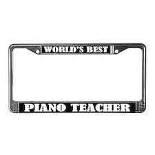 World's Best Piano Teacher License Frame