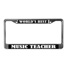 World's Best Music Teacher License Frame Gift