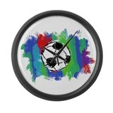 Soccer Fan Large Wall Clock