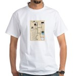 Upside down Horio map. White T-Shirt