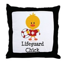 Lifeguard Chick Throw Pillow