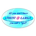 Atheist Sticker (Oval)