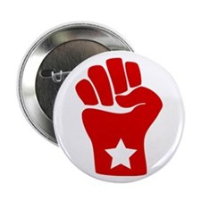 "2.25"" Red Fist Solidarity Button (10 pack)"