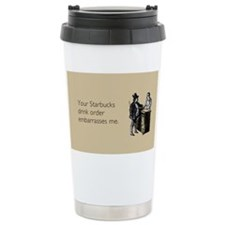 Drink Order Ceramic Travel Mug