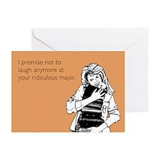 Ridiculous Major Greeting Cards (Pk of 10)