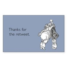 Retweet Thanks Sticker (Rectangle)