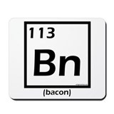 Elemental bacon periodic table Mousepad