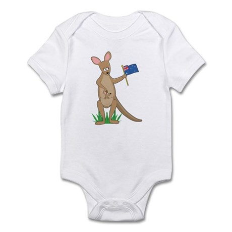Animal Alphabet Kangaroo Infant Bodysuit