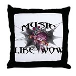 Music Like Wow Throw Pillow