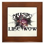 Music Like Wow Framed Tile